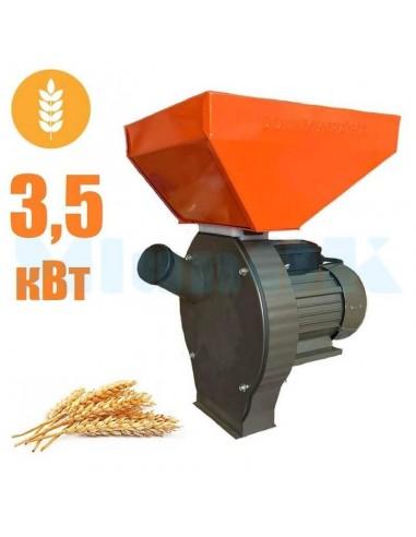 Зернодробилка Donny DYBB 3500 Україна (3,5 кВт, 240 кг/час) коричнево- оранжевая - фото 1