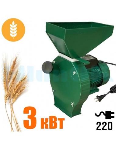 Зернодробилка Donny DYC 3000 Україна (3 кВт, 240 кг/час) зеленая - фото 1