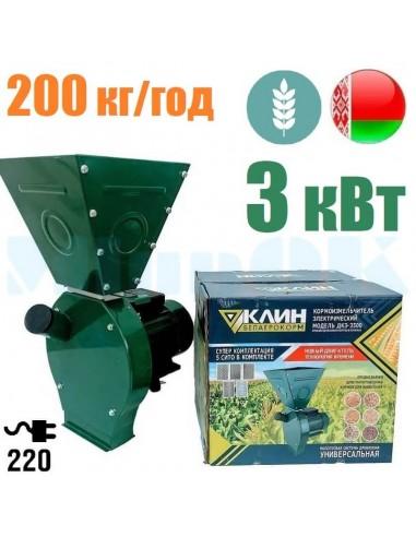 Зернодробилка КЛИН Белагрокорм ДКЗ-3500 (3 кВт, 220 в, зерно 200 кг/час) - фото 1