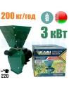 Зернодробарка КЛИН Белагрокорм ДКЗ-3500 (3 кВт, 220 в, зерно 200 кг/год) - фото