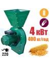 Зернодробарка Master Kraft IZKB-4000 (4 кВт, 220 в, зерно 400 кг/год) - фото