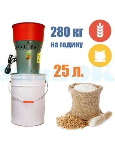 Зернодробилка- мукомолка Holz Mill 25 (1,0 кВт, 280 кг/час) Измельчитель зерна - фото 1
