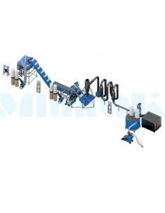 Оборудование для производства пеллет МЛГ-1000 DUO полный цикл - фото