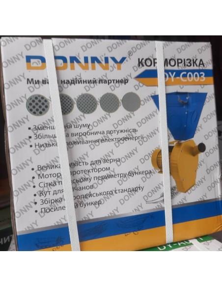 Зернодробилка Donny DY-С003 (3,8 кВт, 280 кг/час) желто- синяя большой бункер - фото