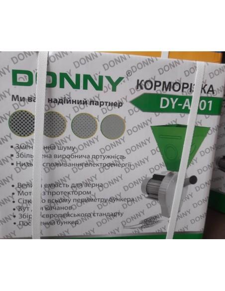 Зернодробилка Donny DY-A001 (3 кВт, 240 кг/час) бело- зеленый, большой бункер - фото