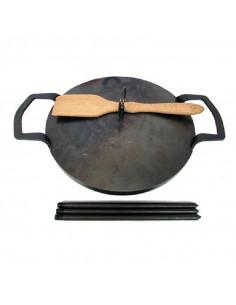 Сковорода дисковая 41 см с крышкой - фото