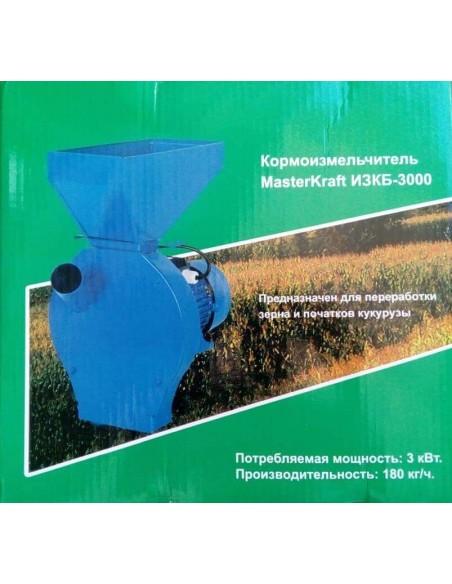 Зернодробилка Master Kraft IZKB 3000 (3 кВт, 220 в, зерно 200 кг/час) - фото