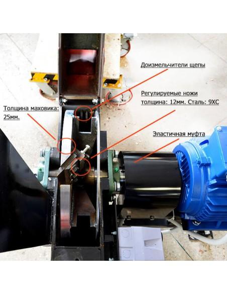 Щепорез 2М-80Е электрический (4 м3 в час) - фото