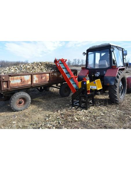 Измельчитель веток 2В-120ТК с конвейерной лентой от ВОМ трактора (8 м3 в час) - фото