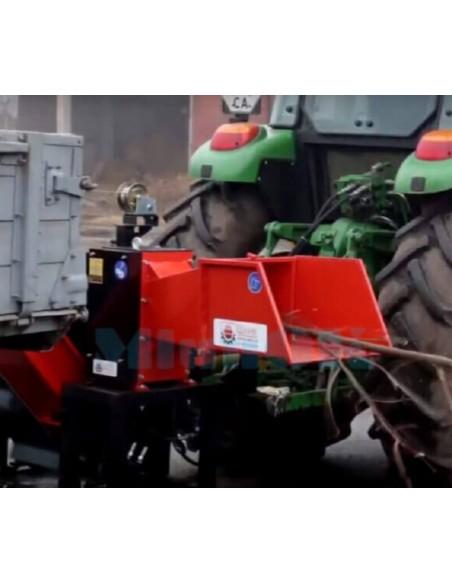 Измельчитель веток TN-130ТК3 PRO от ВОМ трактора с конвейерной лентой 3 м - фото