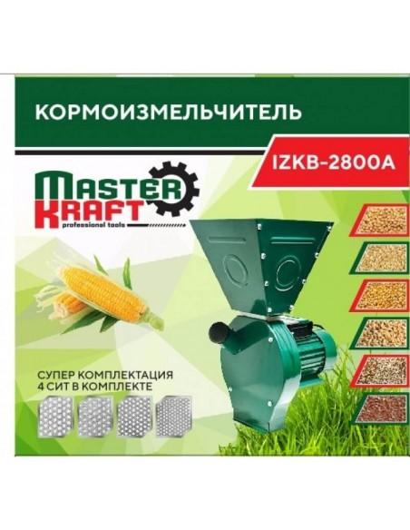 Зернодробилка Master Kraft IZKB 2800А NEW (2,8 кВт, 220 В) - фото
