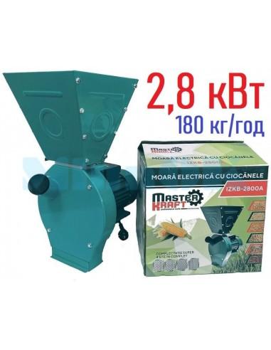 Зернодробилка Master Kraft IZKB 2800А NEW (2,8 кВт, 220 В) - фото 1
