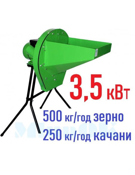 Зернодробилка Master Kraft IZKB 3500 (3,5 кВт, 220 в, зерно 500 кг/час) - фото