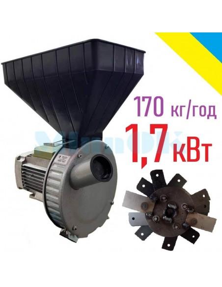 Зернодробилка Газда М71 (1,7 кВт, зерно, початки кукурузы) - фото