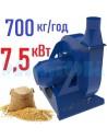Зернодробарка молоткова KRAFT-7 (7,5 кВт, 700 кг на годину) - фото