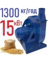 Зернодробарка молоткова KRAFT-15 (15 кВт, 1300 кг на годину) - фото