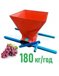 Измельчитель винограда Master Kraft MK-01 (дробилка, давилка) красная - фото