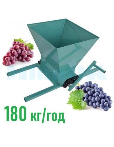 Измельчитель винограда Master Kraft MK-01 (дробилка, давилка) зеленый - фото 1