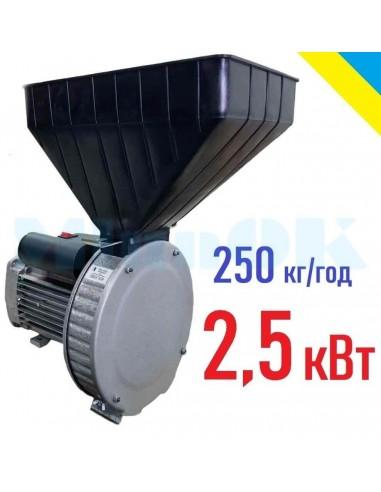 Зернодробилка Газда Р80 (2,5 кВт, 250 кг/час) - фото 1