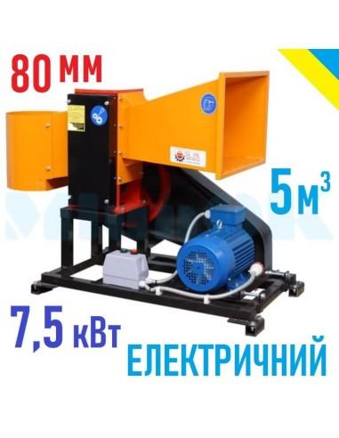 Измельчитель веток 2В-80Е электрический (5м3 в час) - фото 1