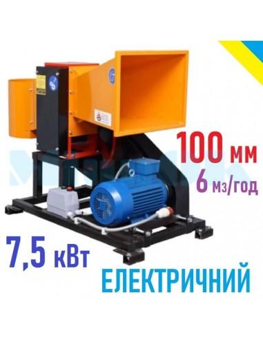 Измельчитель веток 2В-100Е электричества (6м3 в час) - фото 1