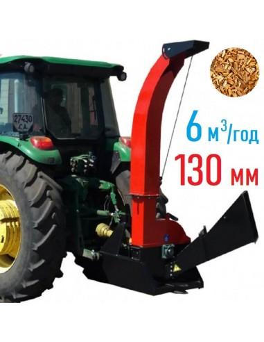 Щепорез 4М-130ТР от ВОМ трактора с усиленной рамой под прицеп (6 м3 в час) - фото 1