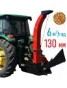 Щіпоріз 4М-130ТР від ВВП трактора з посиленою рамою під причіп (6 м3 на годину) - фото