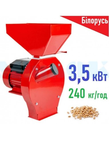 Зернодробилка Беларус БКЭ-3500 (3,5 кВт, 240 кг/час) PROМАШ - фото 1