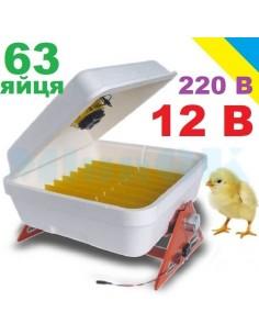 Инкубатор Веселое семейство-12В (12 В/220В, 42 яйца, полуавтомат) - фото