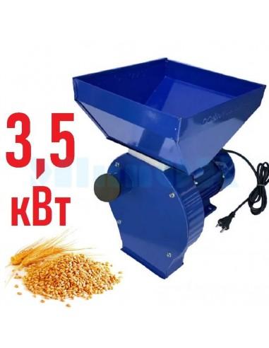 Зернодробилка Donny 3400 Україна (3,5 кВт, 240 кг/час) синяя - фото 1
