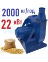 Зернодробилка молотковая KRAFT-22 (22 кВт, 2000 кг в час) - фото