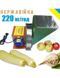 Измельчитель для овощей и фруктов электрический ПОФ 4 нержавейка - фото