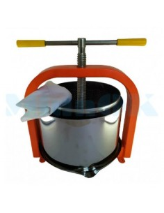 Пресс винтовой 15 л ЛАН нержавейка для сока винограда, яблок, томатов - фото