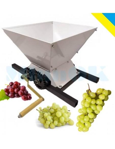 Измельчитель винограда ЛАН (дробилка, давилка) белый - фото