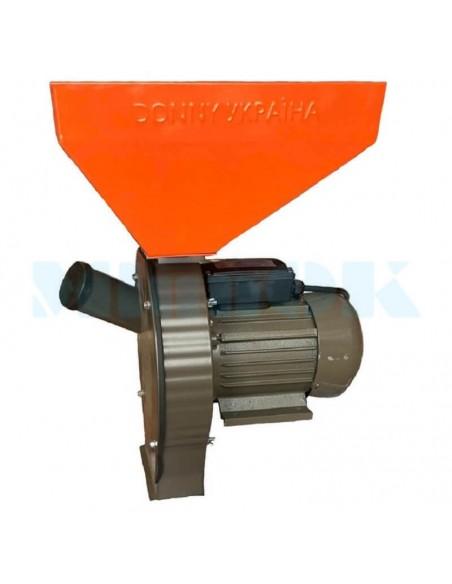 Зернодробилка Donny DYBB 3500 Україна (3,5 кВт, 240 кг/час) коричнево- оранжевая - фото